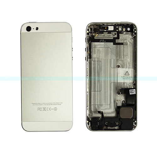 !1 Silver Replacement metal back houisng/ cover/ rear cover/rear housing/ battery cover iphone5G - yehe68 store