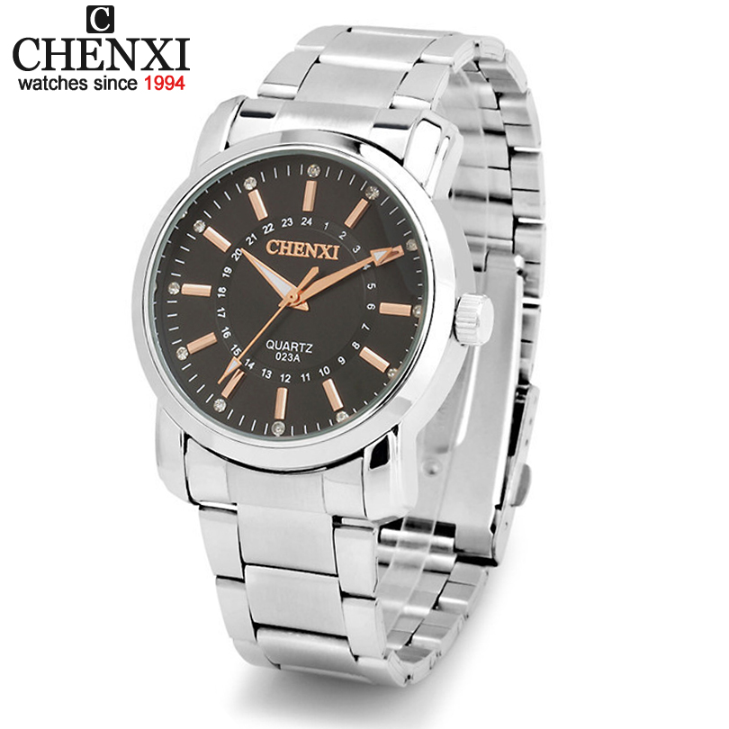 New Design Formal CHENXI Branded Watches,Men full steel watch Quartz Analog Fashion Simplicity Mens Watches<br><br>Aliexpress