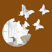 2016 new home decor wall sticker stickers diy kitchen acrylic mirror modern multi-piece package pattern large free shipping