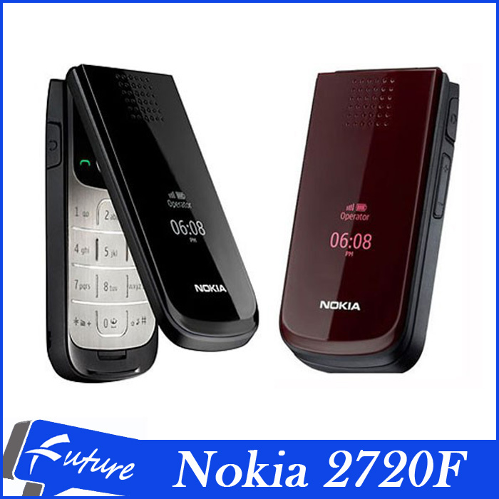Original Unlocked Phone Nokia 2720 Fold 1.3MP Camera Refurbished Cell Phones Email JAVA Bluetooth One Year Warranty(China (Mainland))
