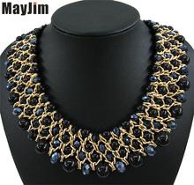 Заявление Ожерелья 2017 ювелирные изделия перлы старинные большие хрустальные ожерелья и кулоны заявление ожерелья Женщины аксессуары оптовая(China (Mainland))
