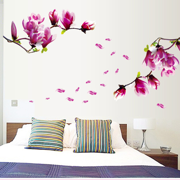 Ay7105 removable flower home art decor wall stickers - Decoration adhesif mural ...