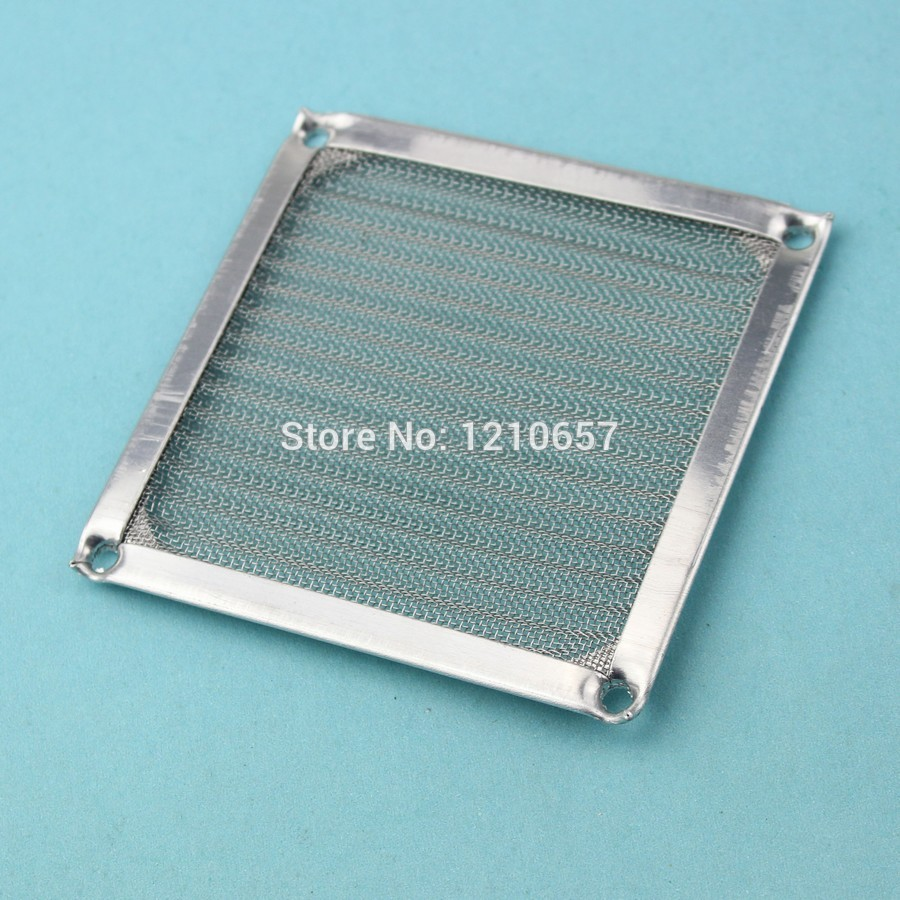 2Pieces lot 90mm PC Computer Fan Cooling Dustproof Dust Filter Case fr Aluminum Grill Guard(China (Mainland))