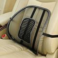 Mesh Lumbar Back Brace Support Office Home Car Seat Chair Cushion Office Seat Chair Black Lumbar