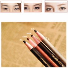 Hot Sale Soft Crayon Waterproof Eyebrow Eyeliner Pencil 5 Colors Fashion Women Beauty Makeup Eyebrow Enhancer MB001(China (Mainland))