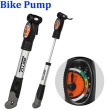 BETO Aluminium Alloy Mini Portable Cycling Bike Bicycle Tire Inflator Air Pump With Pressure Gauge Bracket(China (Mainland))
