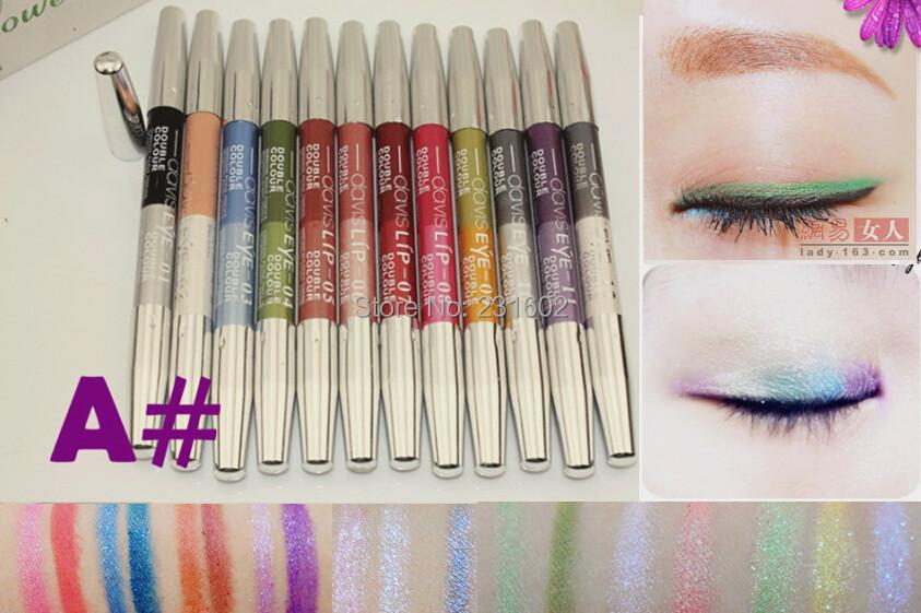 Brand makeup 1 waterproof eyeliner pencil eye Liner lip liner Pen deliniador maquillage 24 colors A# - Just us store