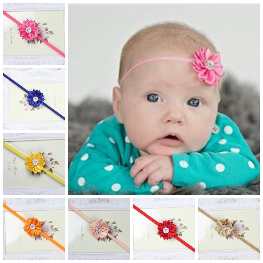 2015 Newborn Infants flower Headband baby headband hairband Children Hair Accessories Girls Headwear(China (Mainland))