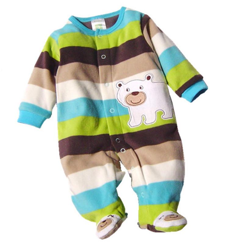 Fashion New 2015 Autumn Winter Similar Carters Baby Rompers Clothes Newborn Boy Girl Polar Fleece Baby