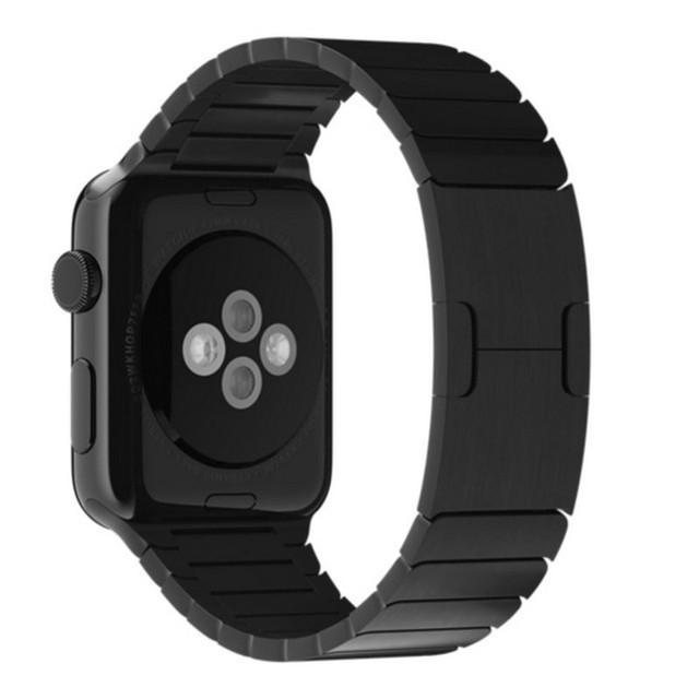 1:1 оригинальный 42 мм 38 мм Space черный ссылка браслет из нержавеющей стали для Apple , часы тесемкой застежка ремешка для iwatch