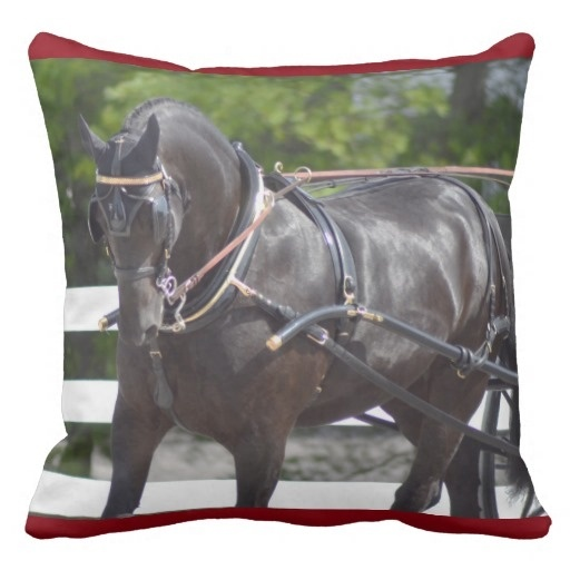 """Ugly Carriage Driving Horse Show Pillow Case (Size: 20"""" by 20"""") Free Shipping(China (Mainland))"""