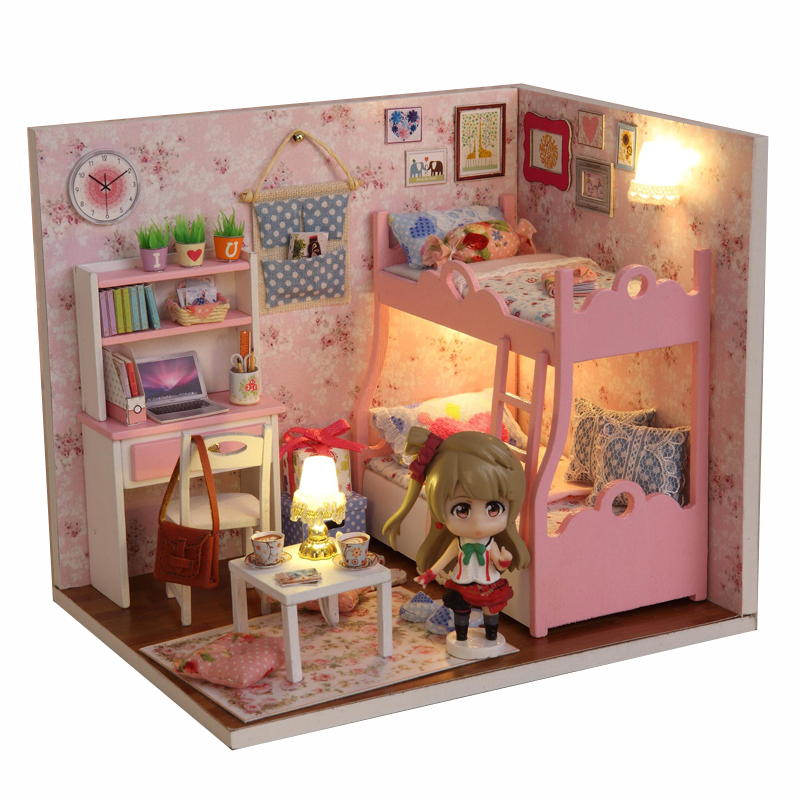 1 12 Diy Doll House With Miniature Furniture Accessories