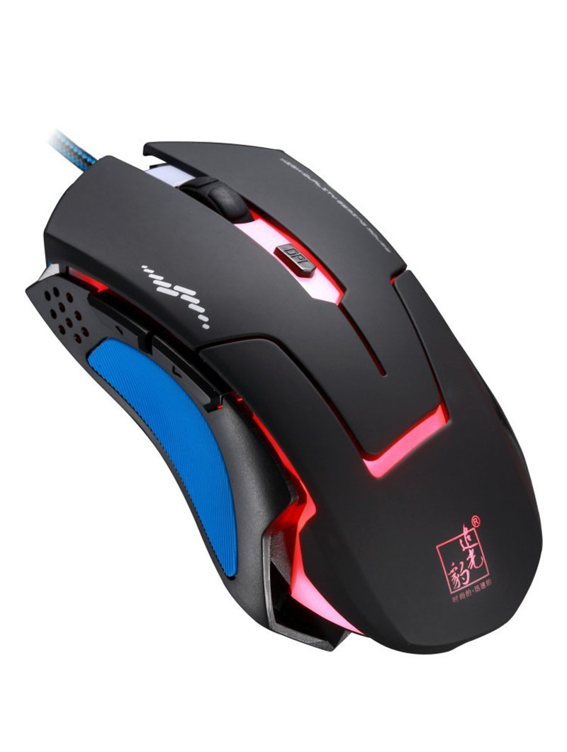 T7 Wired 3 Color Changeable 1200 DPI 1600DPI 2400DPI Gaming USB Optical Mouse(China (Mainland))