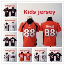 Kids youth Free fast shipping Best Quality 94 DeMarcus Ware 7 John Elway 58 Von Miller 88 Demaryius Thomas 30 Anthony Davis()