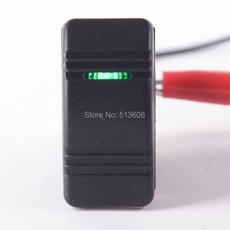 5pcs/lot LED Light Bar Rocker Switch Green ARB Carling Style Type 3 PINS DC 12V- 24V