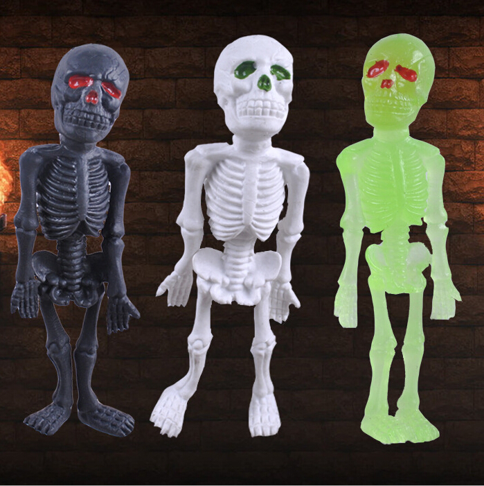Halloween Supplies Tricky Toys Creative simulation luminous skeleton skeleton big scary ghost man the whole person(China (Mainland))