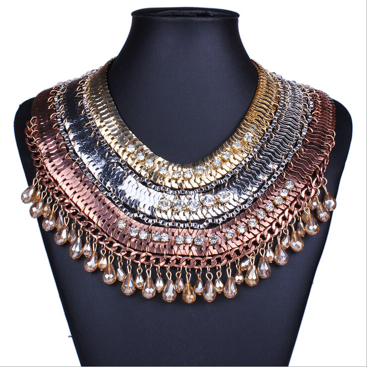 Buy Europe Vintage Style Alloy Women Statement Necklaces Bohemian Style Lady