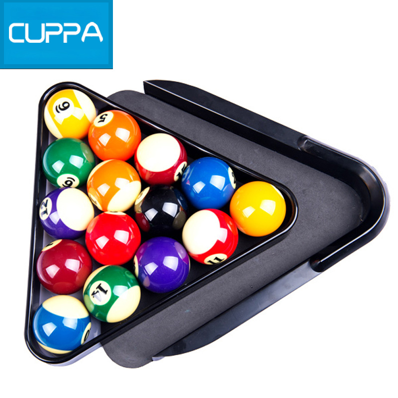 New Arrival Cuppa Plastic Triangle Tray Pool Billiard Table Ball Storage Holder Black China(China (Mainland))