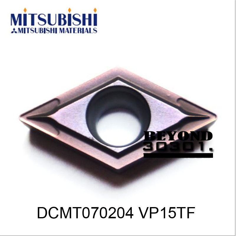 DCMT070204 VP15TF. MITSUBISHI cutting blade, turning tip,Suitable for SDJCR SDQCR SDNCN SDUCR SDXCR Series Lathe Tool,(China (Mainland))