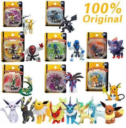 Original Pocket Monster Pikachu Eevee Pokemon animal doll animal Action Figures model toy(China (Mainland))