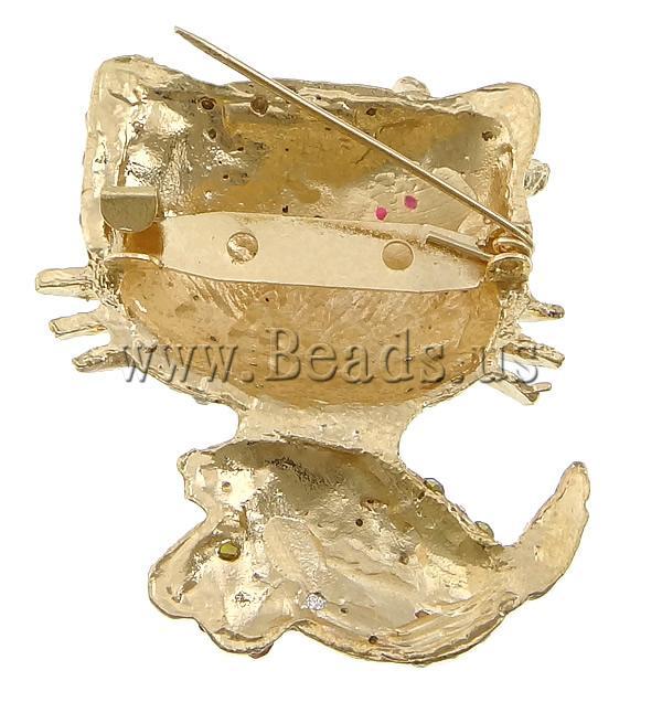 Free shipping!!!Rhinestone Brooch,Men Fashion Jewelry, Zinc Alloy, , gold color plated, enamel &amp; with rhinestone, nickel<br><br>Aliexpress