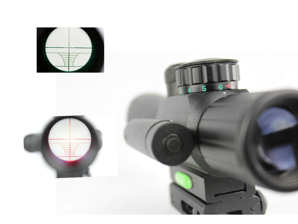 riflescope Tactical Hunting 4x25 Rifle Telescopic + Red Laser Sight+ Mount For Optics Tactical Telescopic Sight outing