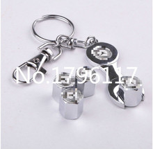 Free Shipping Stainless Steel Caps Car Emblem Wheel Tire Valve Caps Tyre Dust Cap For Mercede bens(China (Mainland))