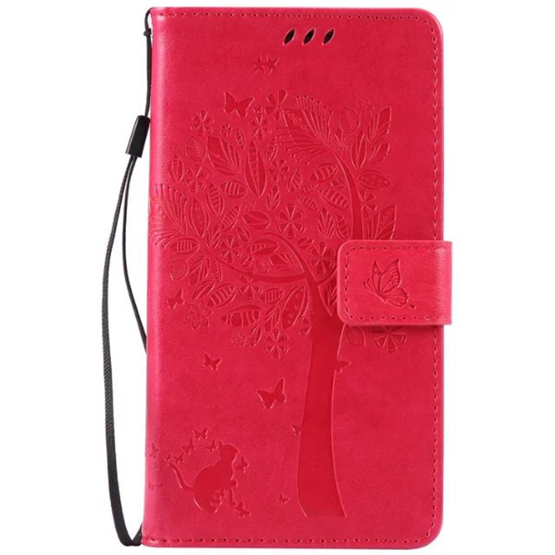 Leather case for coque Samsung Galaxy S4 SIV I9500 9500 Case Cover for coque Samsung S4 Tree Pattern Mobile Phone bags+card hold