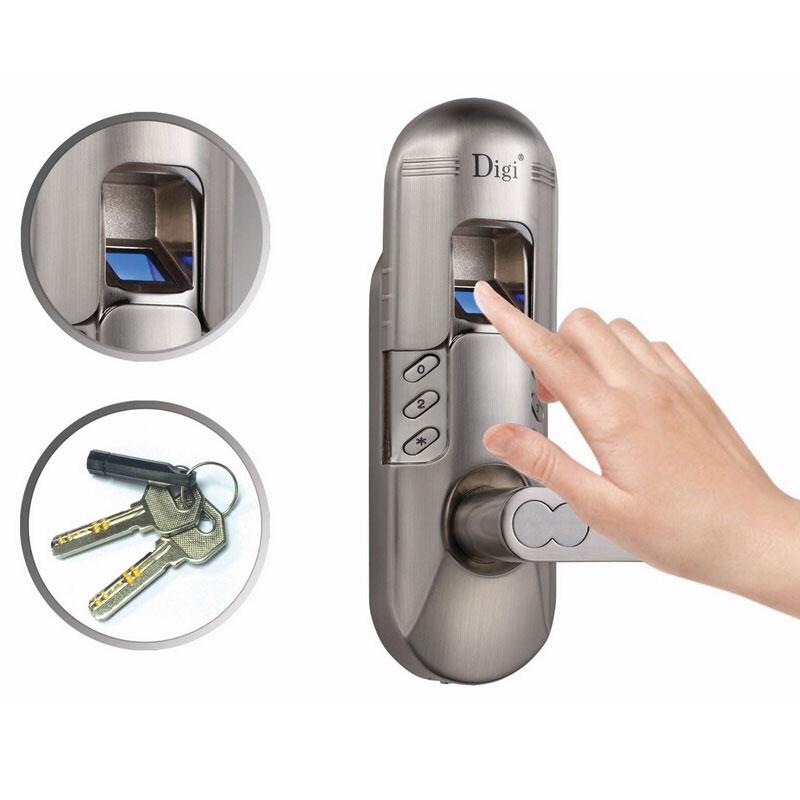 online kaufen gro handel fingerprint keypad door lock aus. Black Bedroom Furniture Sets. Home Design Ideas