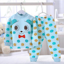 70%OFF Cute Cartoon Color dots Pajamas for Girl Boy Baby Spring Autumn Children Wear Kid Clothes Toddler Fashion Bebe Clothing(China (Mainland))