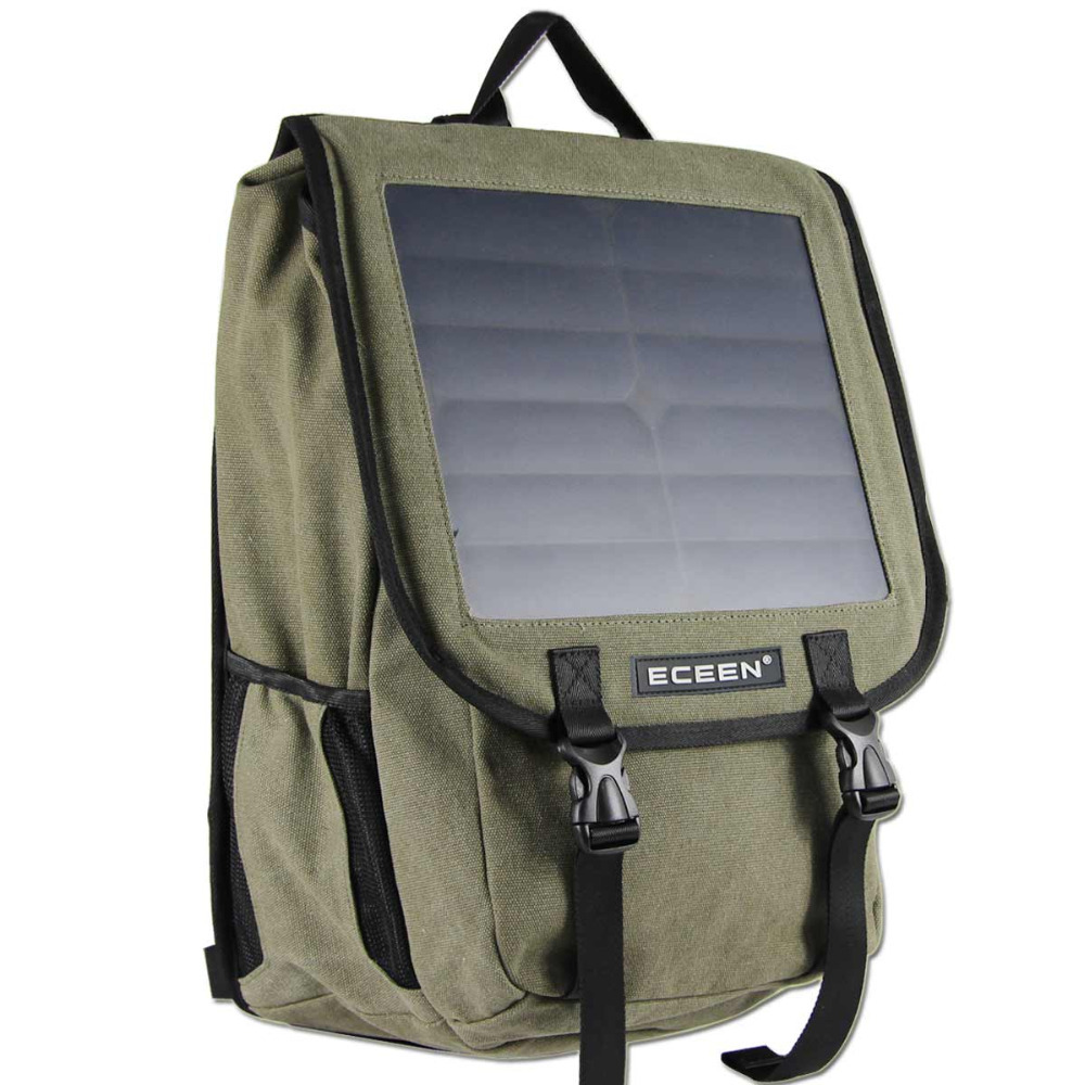 ECEEN 10 Watts Solar Power Backpack, 38 Litres and Canvas Material Bag, Solar Power Charger For Cell Phones etc. 5V Device(China (Mainland))