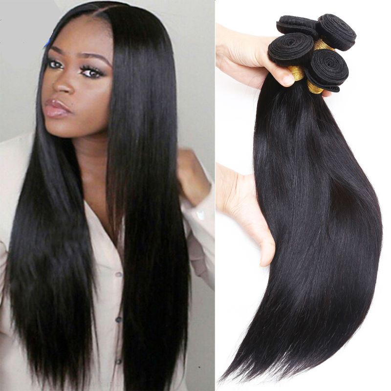 Cambodian Virgin Hair Straight 3 Bundles Manufacturer Sale Best Hair Store 100% Human Hair Extensions Paypal DHL Free Shipping(China (Mainland))