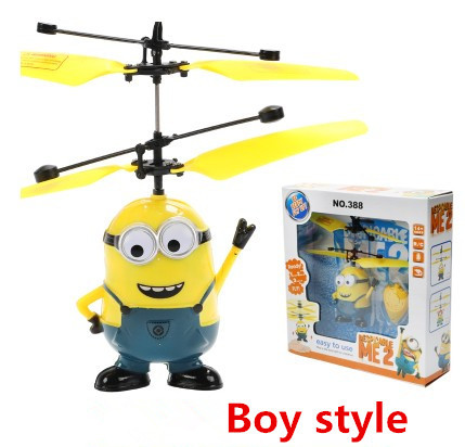 Remote control small charge boy Me 2 Minions toys 2015 New suspension Mini 2ch RC Helicopter Two eye Despicable Flying(China (Mainland))