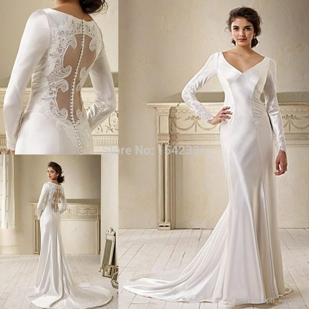 2015 Movie Star In Breaking Dawn Bella Swan Long Sleeve Lace Wedding Dress Bridal Gown Free Shipping On Sale HS222(China (Mainland))