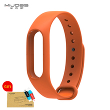 Buy Mijobs Colorful Silicone Wrist Strap Bracelet Replacement watchband Lengthened Original Mi Band Xiaomi Mi band 2 Wristbands for $1.41 in AliExpress store