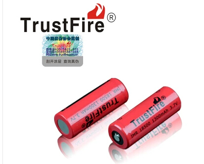 HOT NEW TrustFire 18500 1300mah lithium battery 3.7 V high rate charge large discharge IMR18500 1300mah 3.7V(China (Mainland))