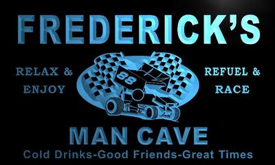 x0131-tm Frederick's Man Cave Pit Stop Custom Personalized Name Neon Sign(China (Mainland))