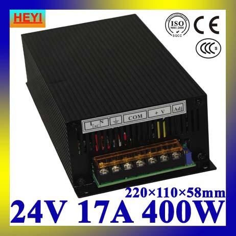 LED power supply 24V 17A 100~120V/200~240V AC input single output switching power supply 400W 24V transformer(China (Mainland))