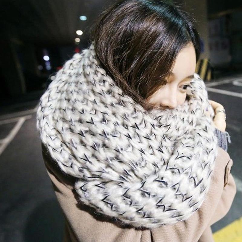 Вязание крючком модный зимний шарф-палантин 5