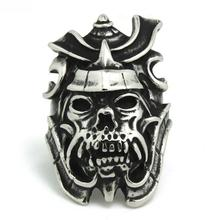 Mens Boys 316L Stainless Steel Punk Gothic  Cool Evil Demon Skull Newest Ring