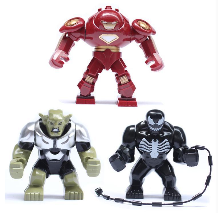 Wholesale marvel Super Hero Iron Man Bricks Building Blocks Hulkbuster Venom Green Goblin Minifigures Compatible With Lego(China (Mainland))