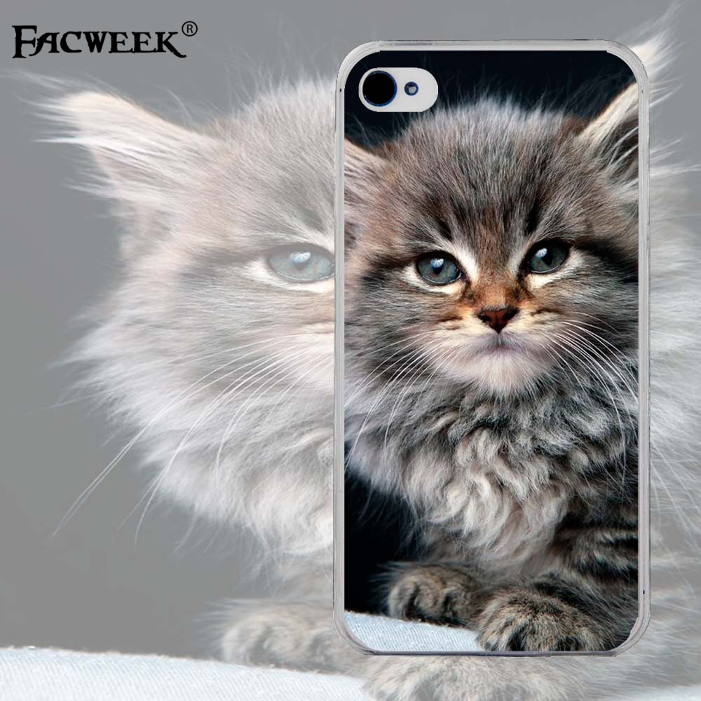 Ultra Thin Back Cover Silicone Soft Shell Coque For Apple Iphone 4 4s Cute Stay Meng Cat Fundas For Iphone4 Cell Phone Cases(China (Mainland))