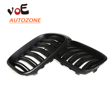2014 2015 Kidney Shape New Matte Black ABS Plastic F25 F26 Auto Car 2-line Front Racing Grill Grille for BMW F25 X3 BMW F26 X4