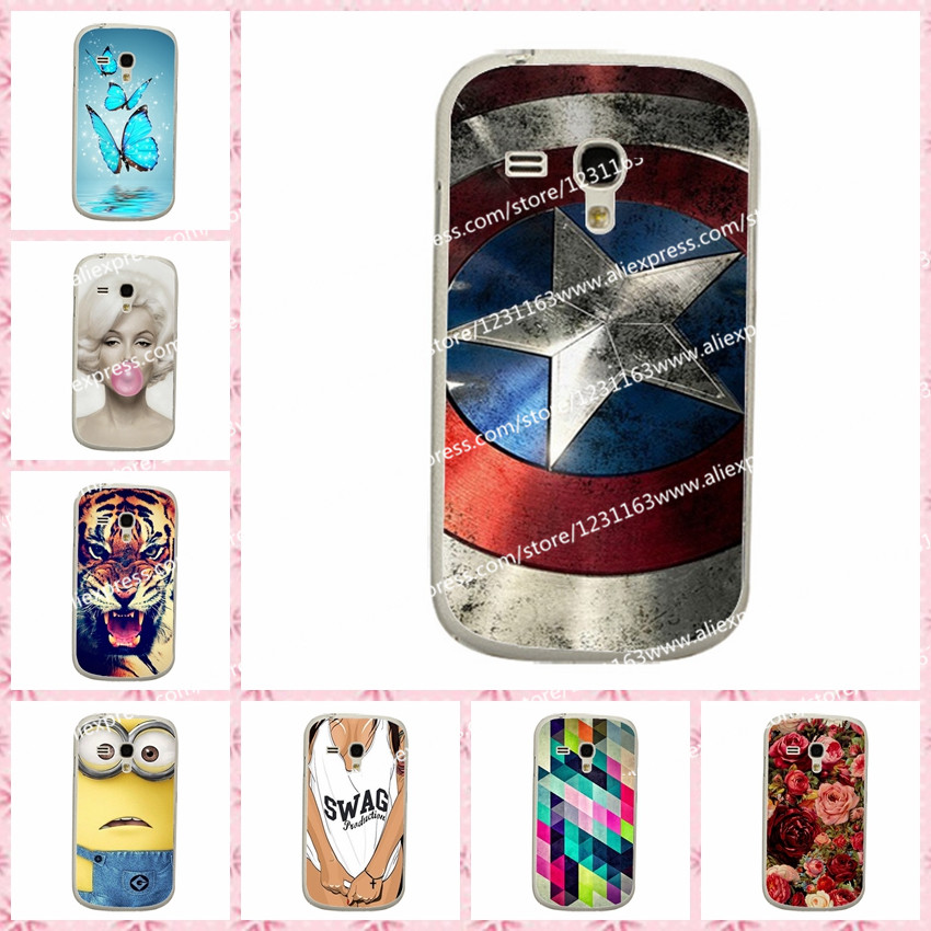 Grid Fashion Hard Plastic Case For Samsung S3 mini Case Cover For Samsung Galaxy S3 mini i8190 Back Cover+Stylus Pen(China (Mainland))