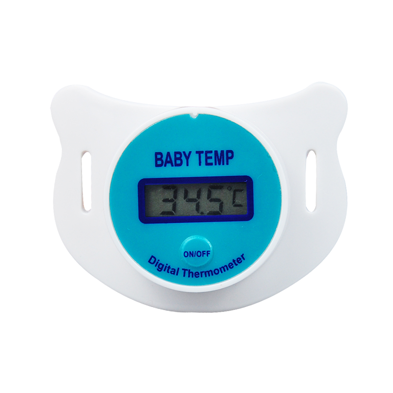 2016 New Portable Digital LCD Pacifier Thermometer Baby Nipple Soft Safe Mouth Thermometer Celiuse(China (Mainland))