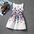 Dresses for girls 2016 spring summer kids Girl dress butterfly sleeveless Kids clothes Korean temperament fashion