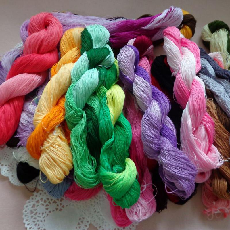 Веревочная пряжа для ручного вязания 23