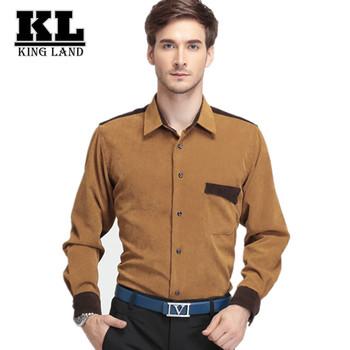 Мужчины фланелевую пижаму хлопчатобумажную рубашку с длинным рукавом бизнес свободного покроя уменьшают подходящие высокое качество зима мужские рубашки , черные социальной сорочка Homme