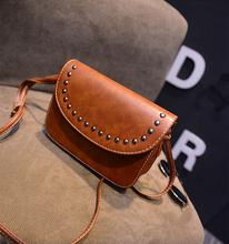 vintage rivet mini leather handbags hotsale ladies party purse wedding clutches women small crossbody shoulder messenger bags