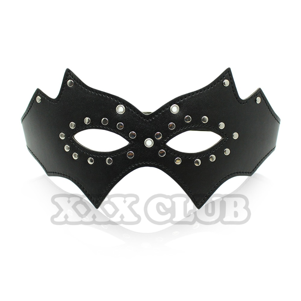 Fetish Bondage Mask Studded Leather Sex Mask for Halloween Party Adult Games Sex Toys for Couples Sex Products(China (Mainland))